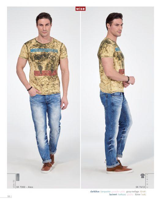Motorcu Sıfır Yaka T-shirt