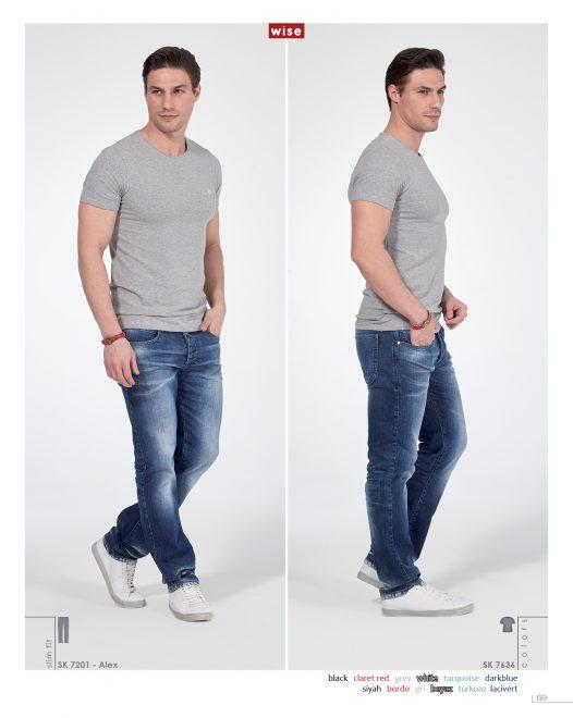 Sıfır Yaka Basic T-shirt