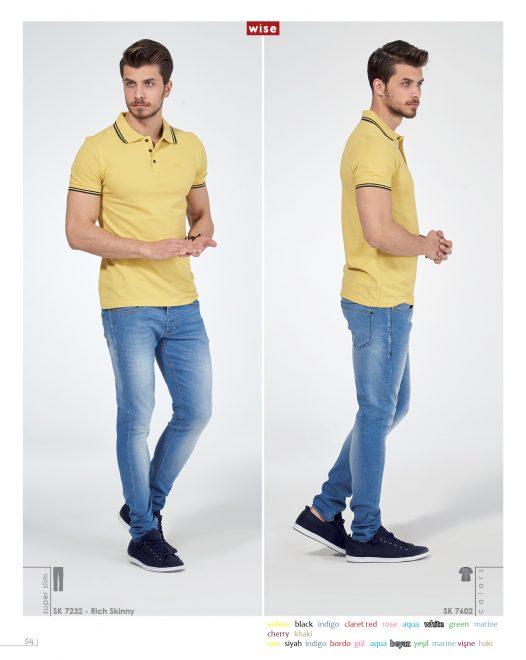 Polo Yakası Çizgili T-shirt