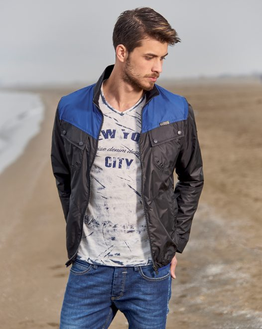 Jacket With Removable Collar